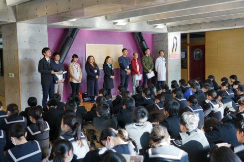 事務局新メンバー&釜石コンパス@釜石中学校